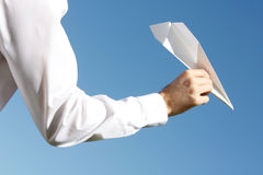 Paper plane Stock Photos