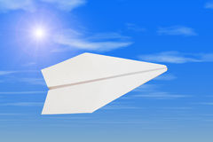 Paper plane Royalty Free Stock Image