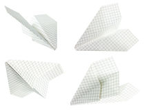 Paper plane. On white background (isolated Royalty Free Stock Images