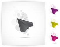 Paper plane. Flying paper plane, vector graphics Royalty Free Stock Photos