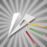 The Paper Plane Stock Photography