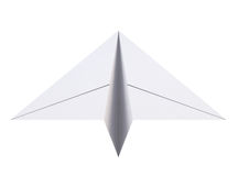 Paper plane. Airplane origami. 3d rendering. Paper plane  on white background. Airplane origami. 3d rendering Stock Photography