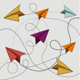 Paper plane design. Over beige background, vector illustration Stock Photo