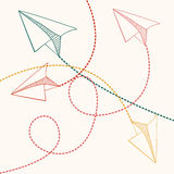 Paper plane design Royalty Free Stock Images