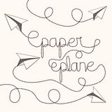 Paper plane design Stock Image