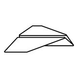 Paper plane different launch fly outline. Illustration eps 10 Stock Images