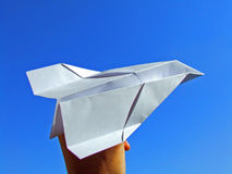 Paper plane fly Stock Photo