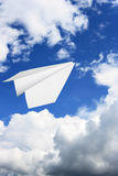Paper plane flying Royalty Free Stock Photos