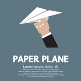 Paper plane In Hand Stock Image