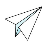 Paper Plane Icon Stock Images