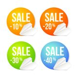 Paper plane icon on a badge background. Royalty Free Stock Images