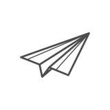 Paper plane icon. Outline paper plane icon ,  illustration for web design etc Stock Photo