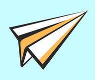 Paper plane  icon. Pop art style sign. Air mail, post letter, delivery service or e-mail  concept. Career, growth, inf Stock Photography