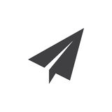 Paper plane icon , Send Message solid logo illustration, p Stock Image