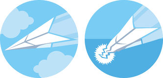 Paper Plane Icon Royalty Free Stock Photos