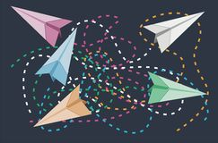 Paper plane illustration Royalty Free Stock Photography