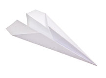 Paper plane isolated Royalty Free Stock Photos
