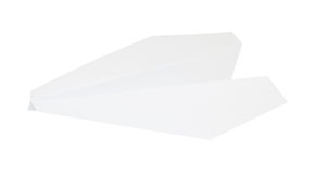 Paper plane isolated on white with clipping path Royalty Free Stock Photography