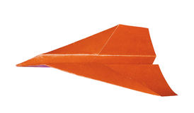Paper plane isolates. Stock Photography