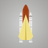 Paper plane with jet engines flat vector illustration. Paper plane with jet engines vector illustration Stock Photography