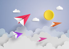 Free Paper Plane On Blue Sky Royalty Free Stock Photo - 73566665