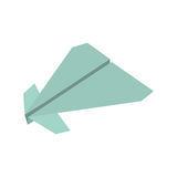Paper plane origami fly. Illustration eps 10 Royalty Free Stock Photography