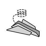 Paper plane origami fly line dotted. Illustration eps 10 Royalty Free Stock Image