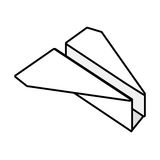Paper plane origami fly outline. Illustration eps 10 Royalty Free Stock Photography