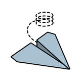 Paper plane origami funny line dotted. Illustration eps 10 Stock Images