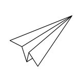 Paper plane origami. Icon  illustration graphic design Royalty Free Stock Photos