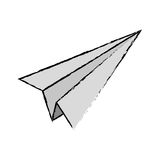 Paper plane origami. Icon  illustration graphic design Stock Image