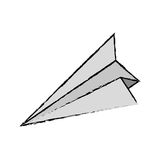 Paper plane origami. Icon  illustration graphic design Royalty Free Stock Images