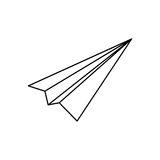 Paper plane origami. Icon  illustration graphic design Stock Photos