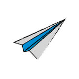 Paper plane origami. Icon  illustration graphic design Royalty Free Stock Photography