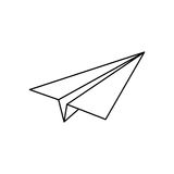 Paper plane origami. Icon  illustration graphic design Royalty Free Stock Image