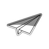 Paper plane origami. Icon  illustration graphic design Stock Photography