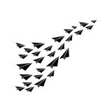 Paper plane origami. Icon  illustration graphic design Royalty Free Stock Photo
