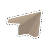Paper plane origami modeling creative cut line. Illustration eps 10 Royalty Free Stock Photo