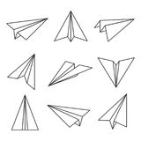 Paper Plane Outline Stock Image