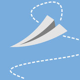Paper plane over blue Stock Photography