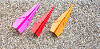 Paper plane play Stock Images