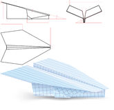 Paper plane project. In three dimensions paper plane project Royalty Free Illustration