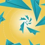 Paper Plane Seamless Tile Pattern. Stock Photos