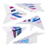 Paper plane set isolated Royalty Free Stock Images