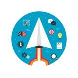 Paper plane startup imagination Stock Image
