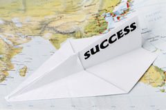 Paper Plane with Success Stock Image