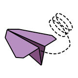 Paper plane toy entertain line dotted. Illustration eps 10 vector illustration