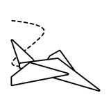 Paper plane toy entertain outline. Illustration eps 10 royalty free illustration