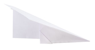 Paper plane on white Royalty Free Stock Images
