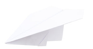 Paper plane on white Stock Images